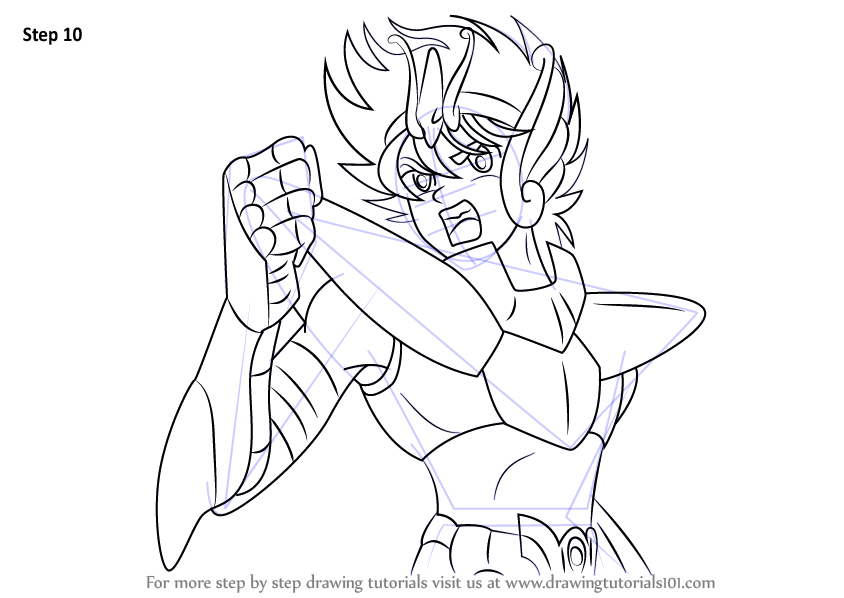 Learn How to Draw Seiya from Saint