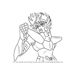 How to Draw Seiya from Saint Seiya