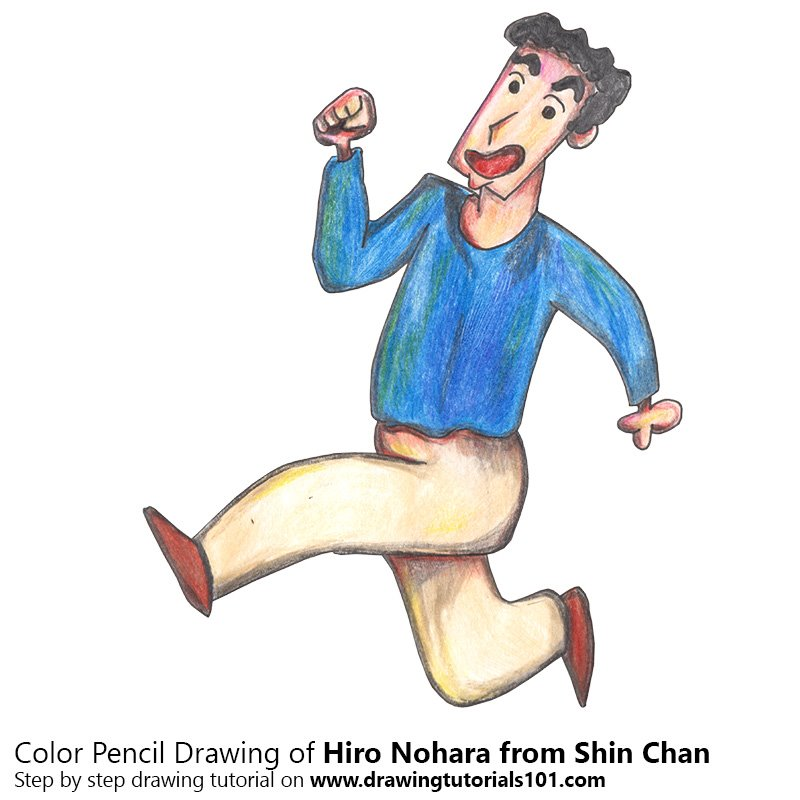 Hiro Nohara from Shin Chan Color Pencil Drawing
