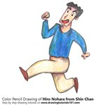 How to Draw Hiro Nohara from Shin Chan