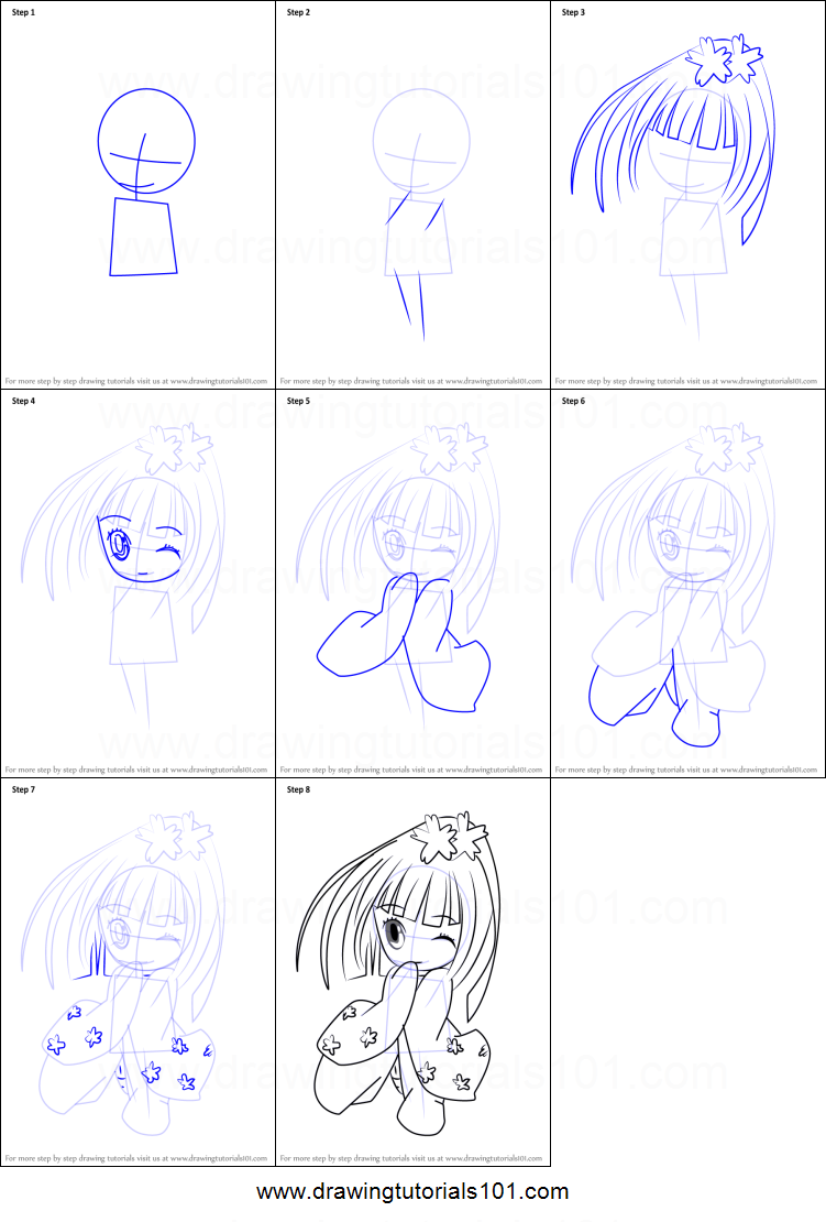 how to draw temari from shugo chara printable step by step