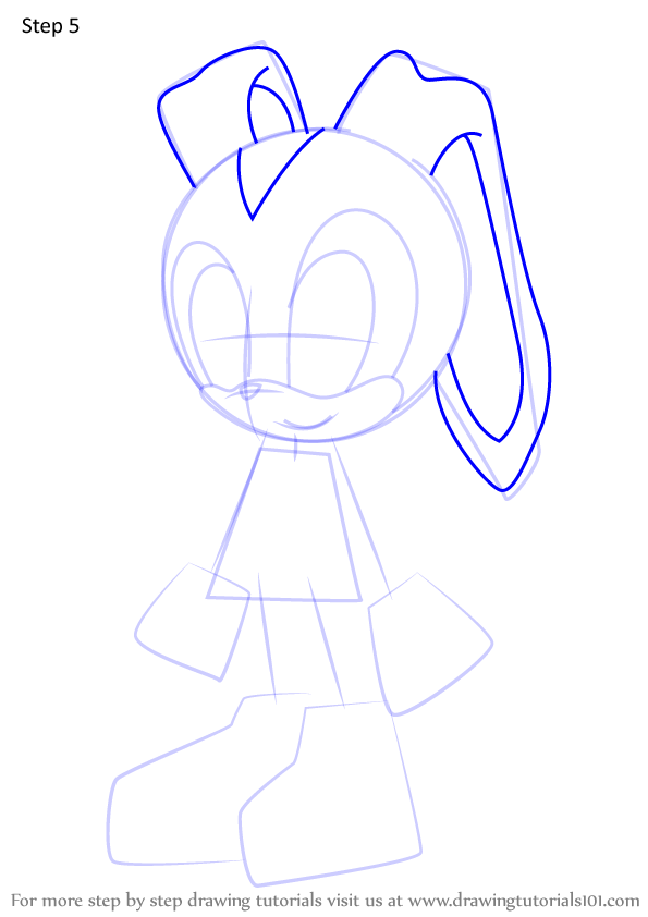 Step By Step How To Draw Cream The Rabbit From Sonic X