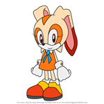 How to Draw Cream the Rabbit from Sonic X