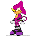 How to Draw Espio the Chameleon from Sonic X