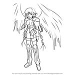 How to Draw Ikaros from Sora no Otoshimono