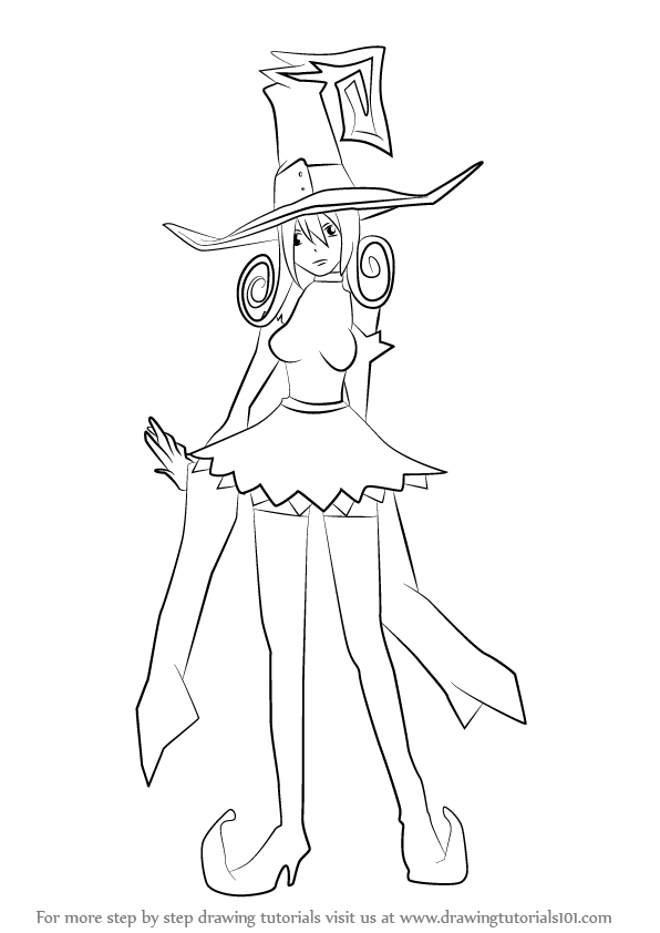 Anime character coloring pages soul eater ~ Step by Step How to Draw Blair from Soul Eater ...