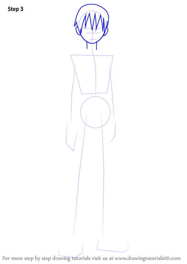 Learn How To Draw Death The Kid From Soul Eater Soul Eater Step By