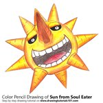 How to Draw Sun from Soul Eater