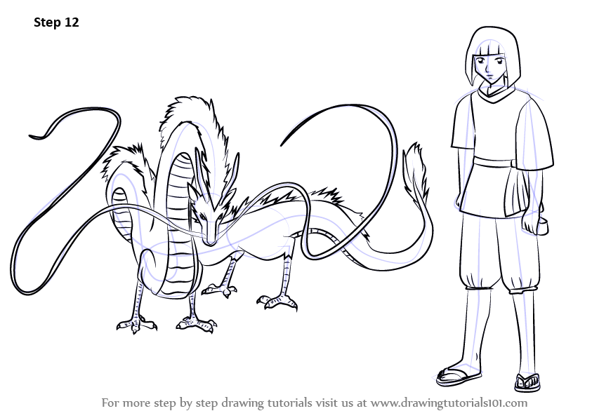 Learn How To Draw Haku From Spirited Away Spirited Away