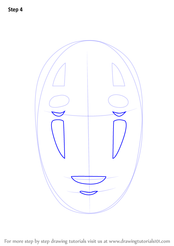 How To Draw No Face From Spirited Away on Printable Oval Shapes