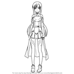 How to Draw Asuna from Sword Art Online
