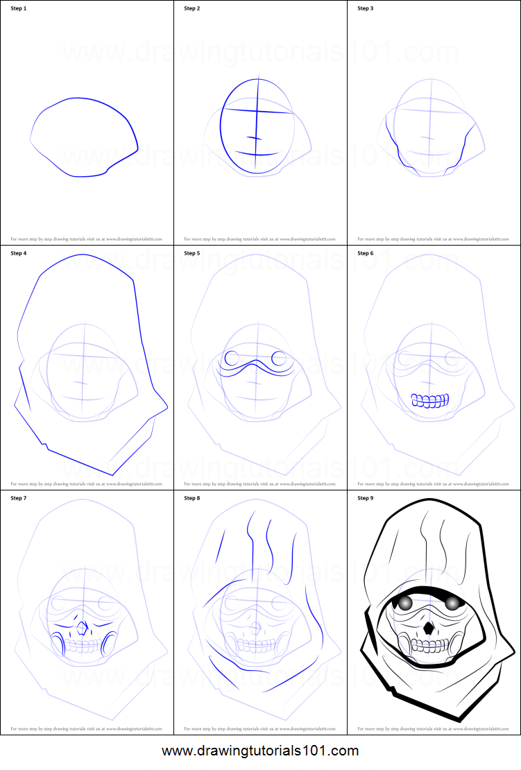 How To Draw Death Gun From Sword Art Online Printable Step
