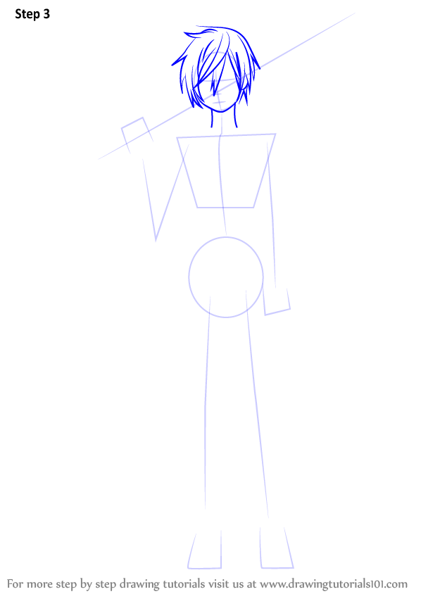 Learn How To Draw Kirito From Sword Art Online Sword Art