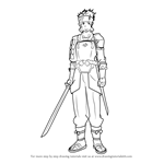 How to Draw Klein from Sword Art Online