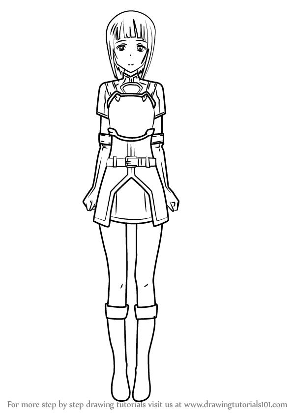 Learn How To Draw Sachi From Sword Art Online Sword Art
