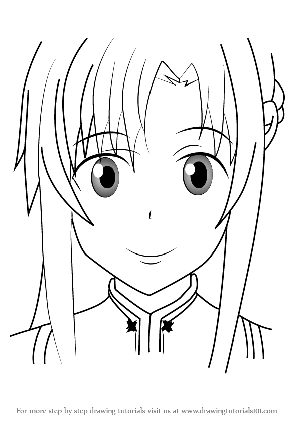 Learn How To Draw Yuuki Asuna From Sword Art Online Sword