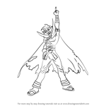 How to Draw Kamina from Tengen Toppa Gurren Lagann