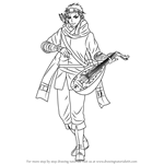 How to Draw Gieve from The Heroic Legend of Arslan