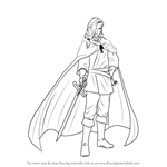 How to Draw Narsus from The Heroic Legend of Arslan