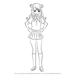How to Draw Saki Tenjouin from To LOVE-Ru