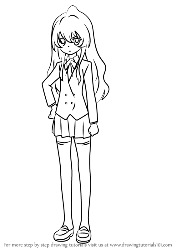Learn How To Draw Taiga Aisaka From Toradora Toradora