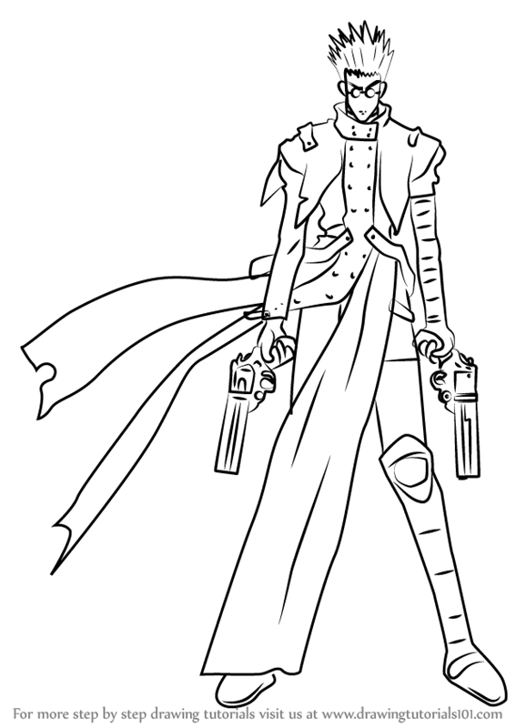 trigun coloring pages | Learn How to Draw Vash the Stampede from Trigun (Trigun ...