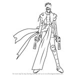 How to Draw Vash the Stampede from Trigun