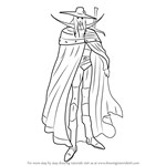 How to Draw D from Vampire Hunter D