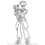 How to Draw Adrian Gecko from Yu-Gi-Oh! GX