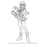 How to Draw Alexis Rhodes from Yu-Gi-Oh! GX