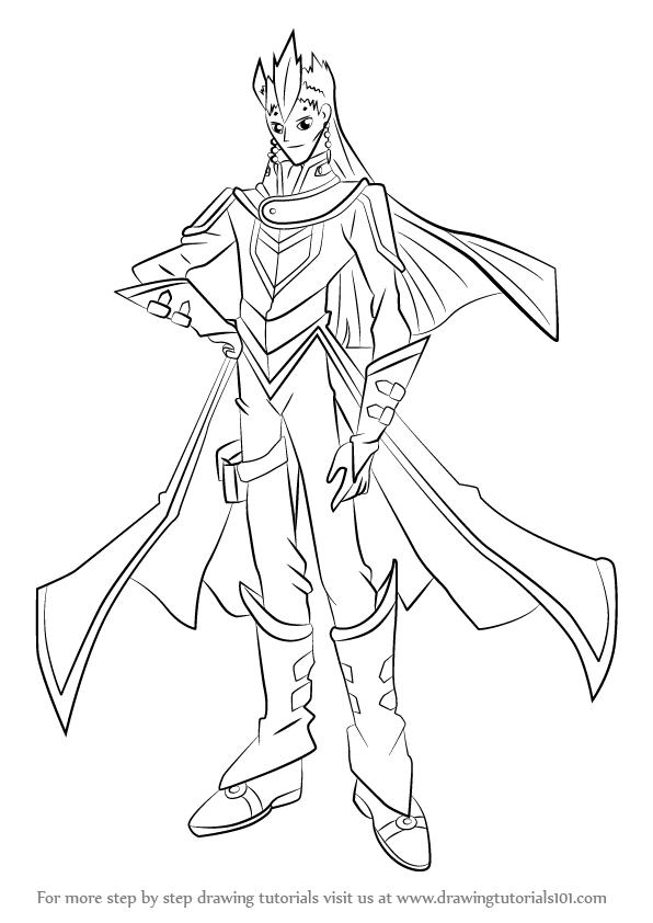 Learn How To Draw Sartorius From Yu Gi Oh Gx Yu Gi Oh Gx Step By