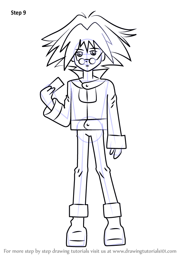 Learn How To Draw Syrus Truesdale From Yu Gi Oh Gx Yu Gi