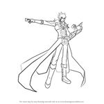 How to Draw Jack Atlas from Yu-Gi-Oh!