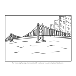 How to Draw a City Bridge Scenery