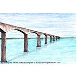 How to Draw Confederation Bridge