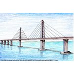 How to Draw Hong Kong Zhuhai Macau Bridge