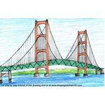 How to Draw Mackinac Bridge