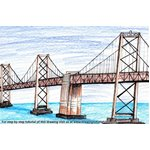 How to Draw Oakland Bay Bridge