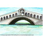 How to Draw Rialto Bridge