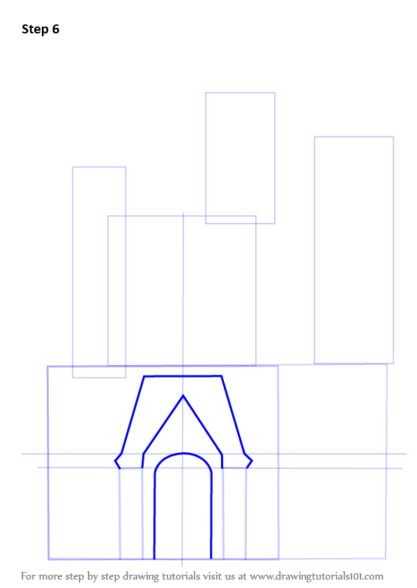 how to draw a castle step by step hard