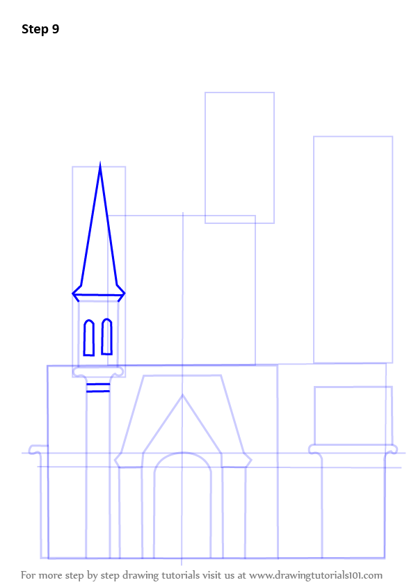 Learn How To Draw A Castle For Kids Castles Step By Step Drawing