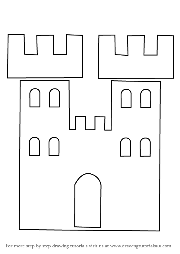 learn how to draw a castle tower for kids castles step by step
