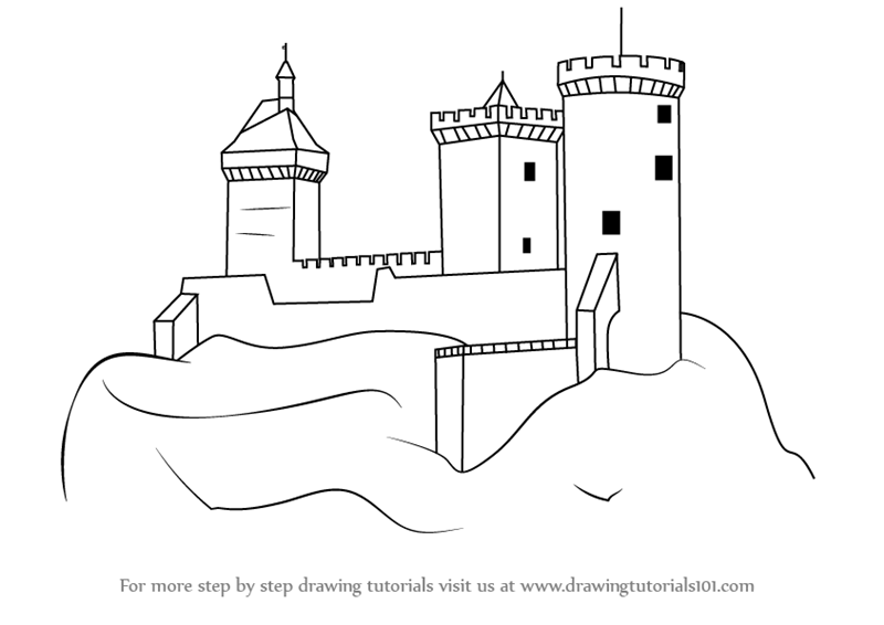 Learn How To Draw A Medieval Castle Castles Step By Drawing Tutorials