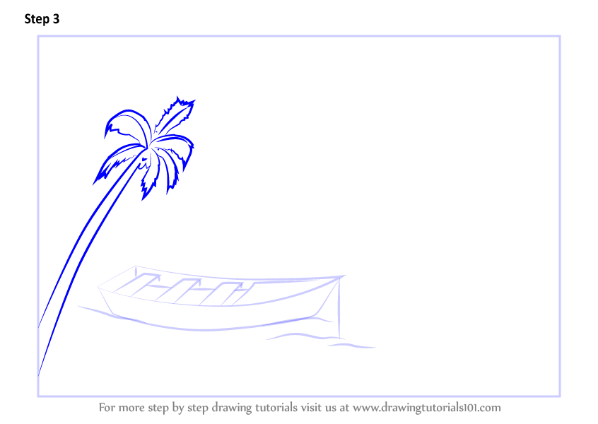 learn how to draw a boat in water scenery landscapes
