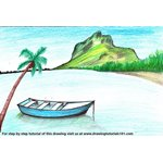 How to Draw a Boat in Water Scenery