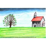 How to Draw a Church Landscape
