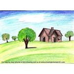 How to Draw a House Landscape