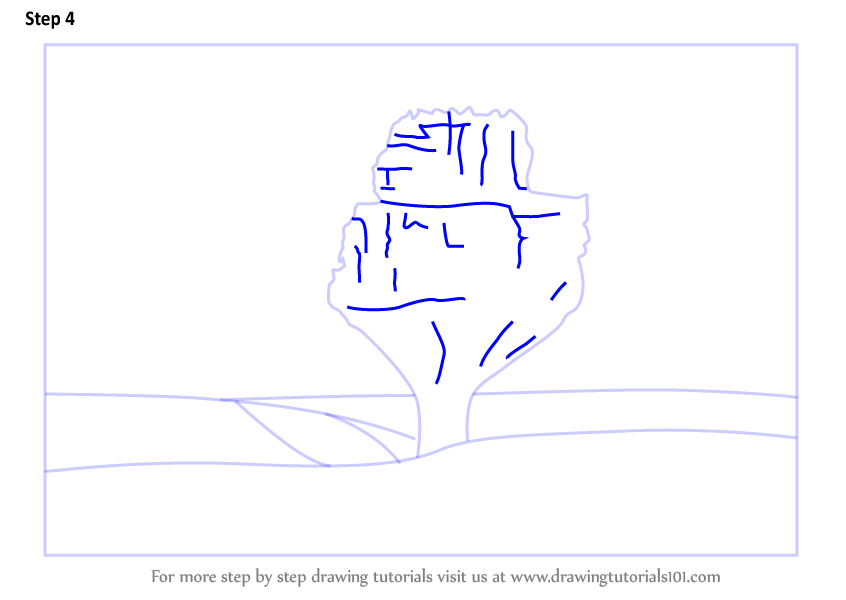 Learn How To Draw Hoggar Mountains Mountains Step By