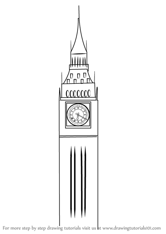 Learn How To Draw Big Ben Other Places Step By Step