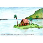 How to Draw an Island Scenery